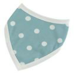 Blue Bib with White Spots from Organics for Kids