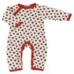 Ladybird Romper Suit from Organics for Kids for sale from Bicalsocks.co.uk
