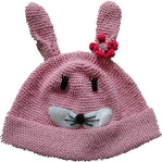 Pink Bunny Rabbit Child's Hat from Footsie 100 Ltd