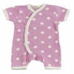 Pink Romper Suit with White Spots by Organics for Kids