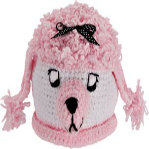 Child's Pink Puppy & Poodle Hat from Footsie 100 Ltd