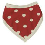 Red Bib with White Spots by Organics for Kids